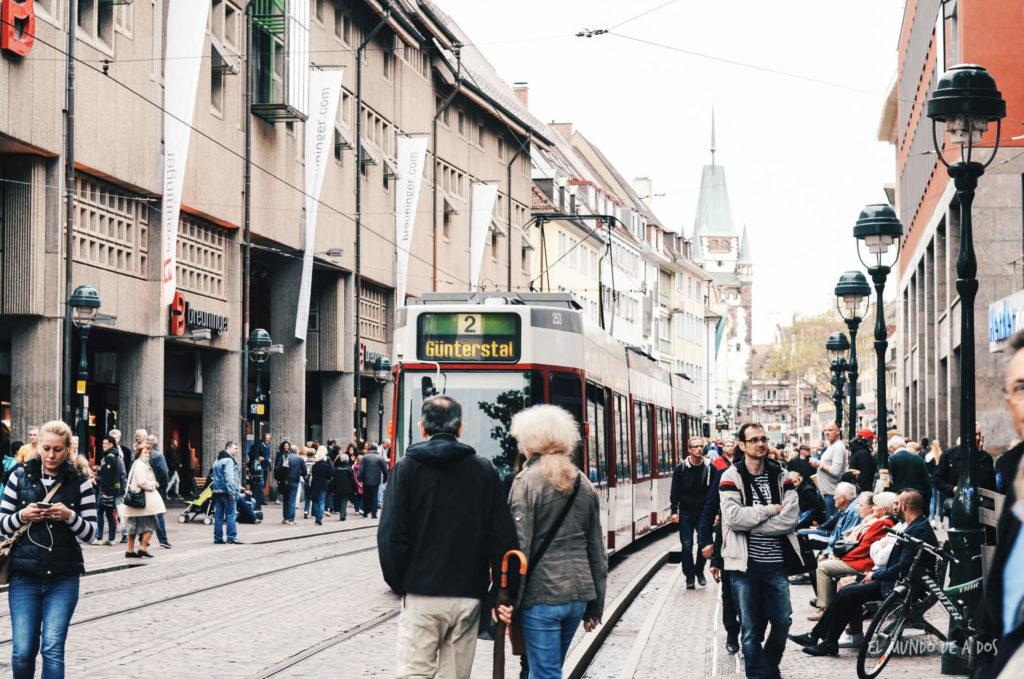 Friburg tranvía. Selva negra en tres dias