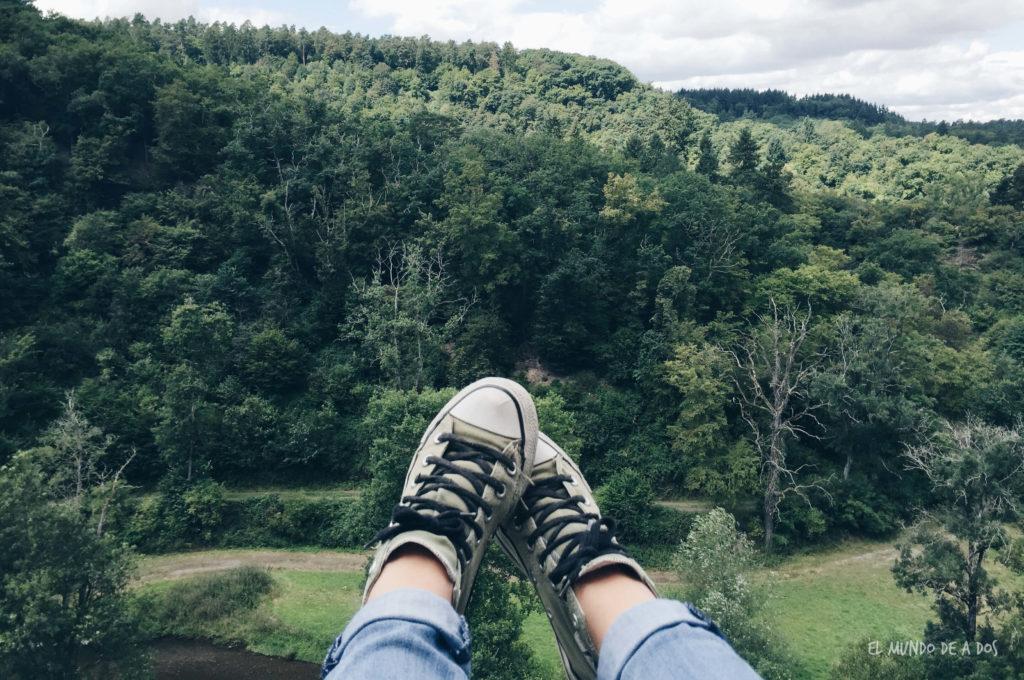 Pies en el aire. Castillo de Eltz
