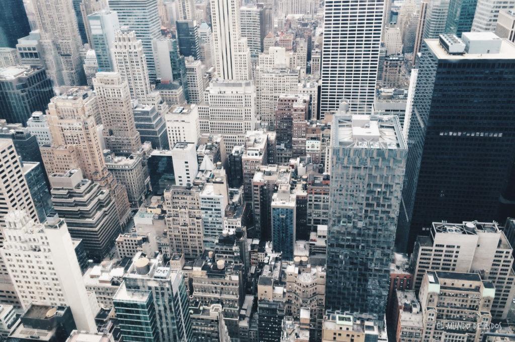 Desde el Rockefeller Center. Escala en Nueva York