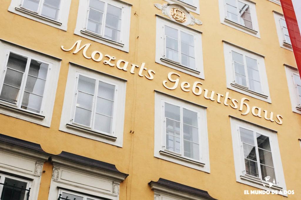 La casa dónde nació Mozart. Salzburgo en un dia