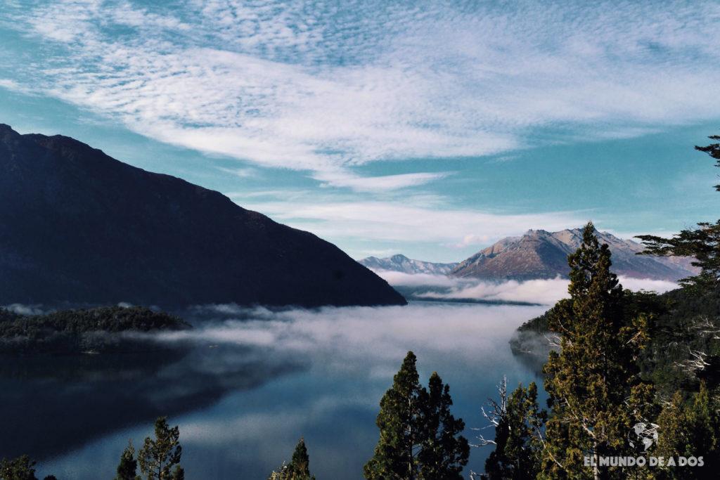 Brazo Tronador del lago Mascardi. Excursion Cerro Tronador