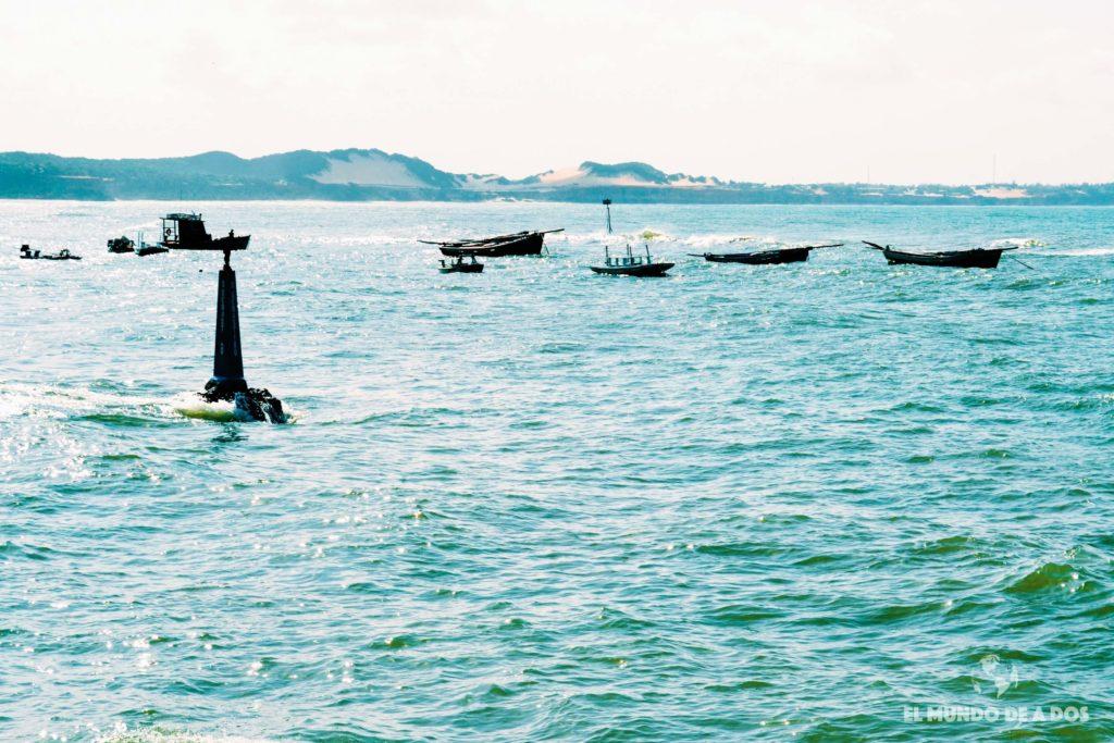 Marea alta en Playa del Centro. Playas de Pipa