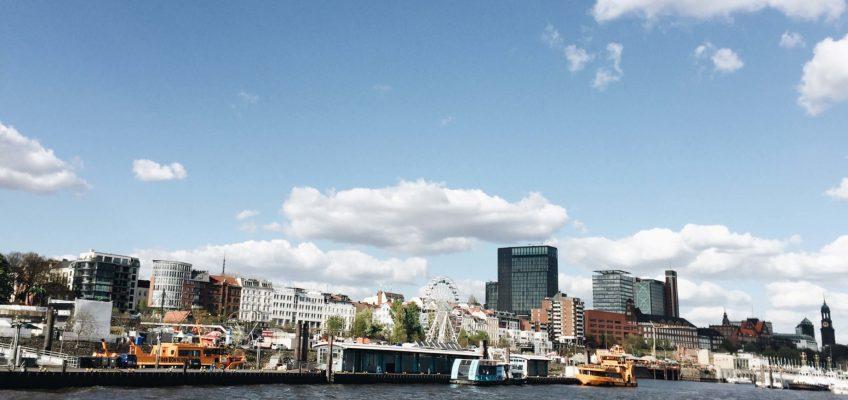 Hamburg desde el barco. desanimado
