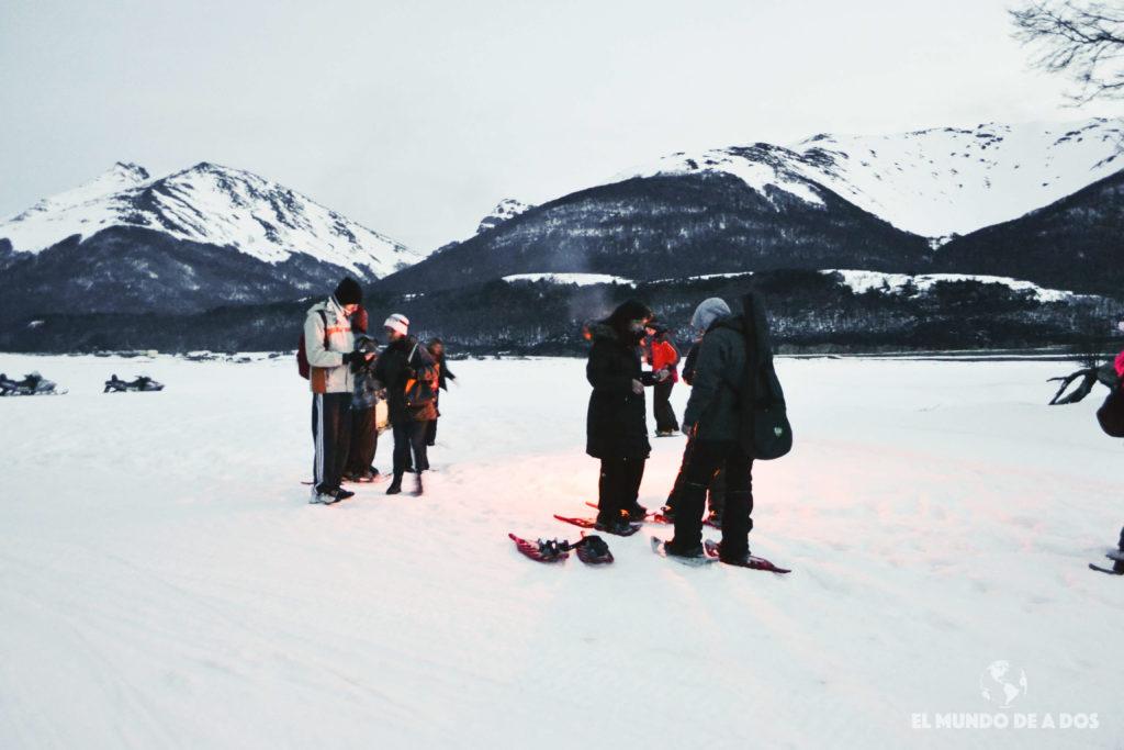 Fin del trayecto de ida. Nieve y Fuego Ushuaia