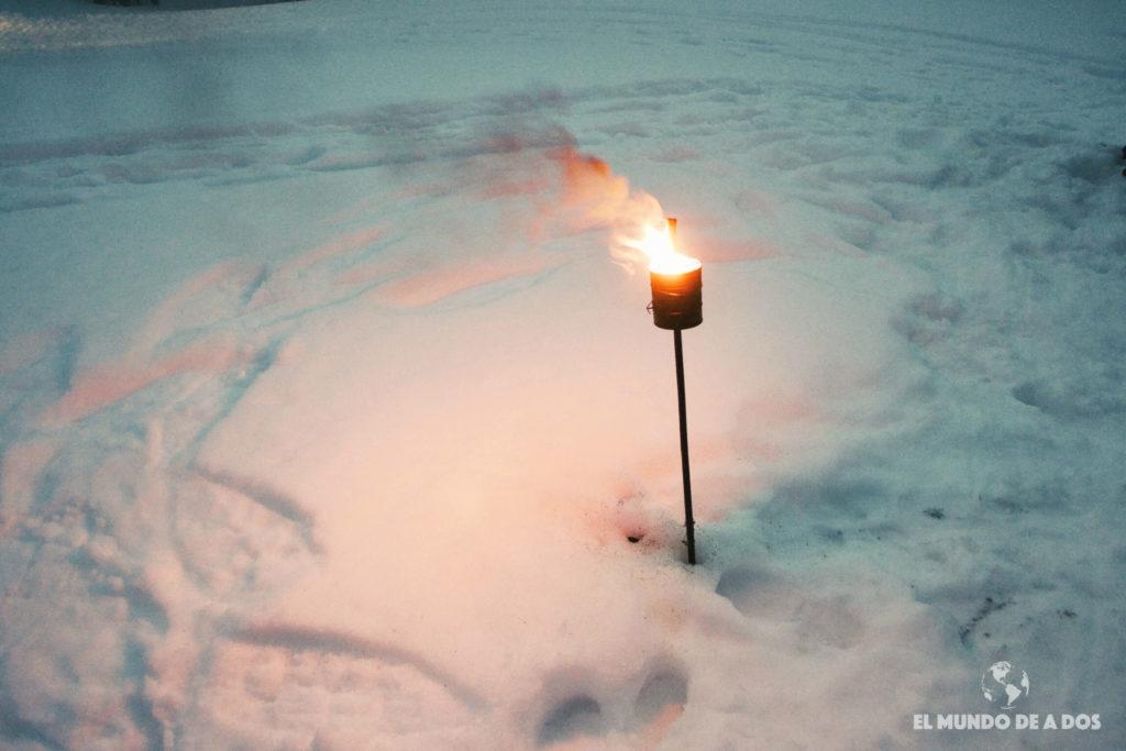 Antorcha en la nieve. Nieve y Fuego Ushuaia