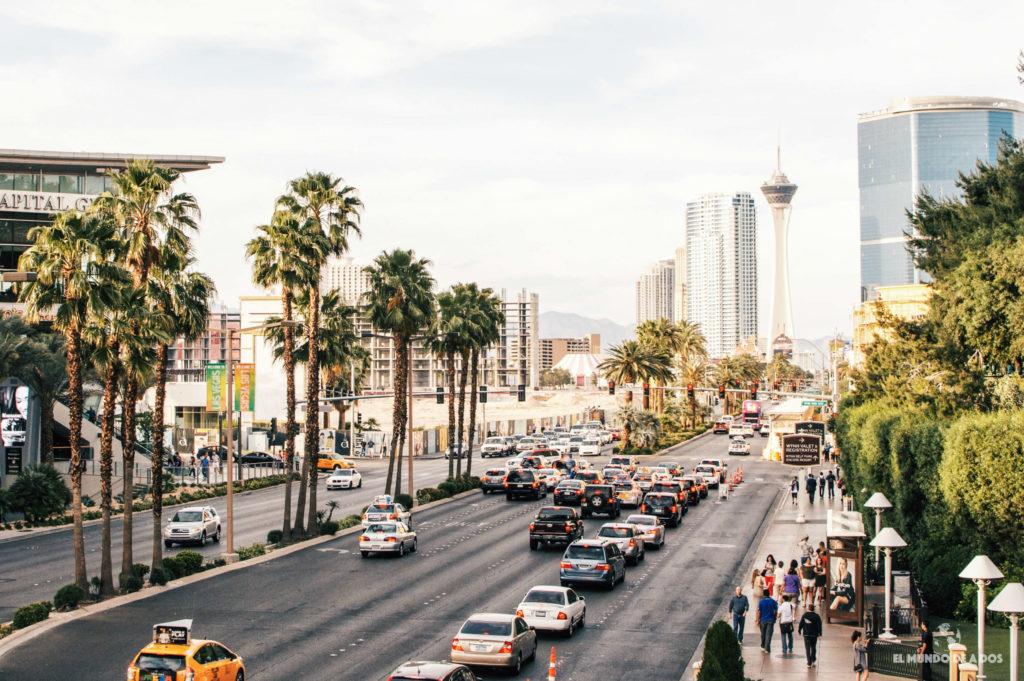 Las Vegas Boulevard. costa oeste de estados unidos