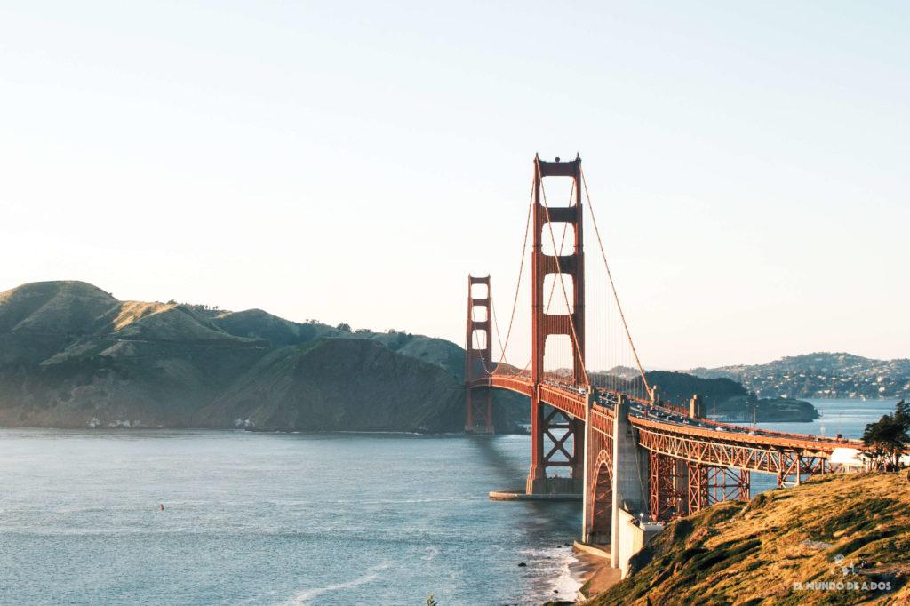 Golden Gate en la costa oeste de estados unidos