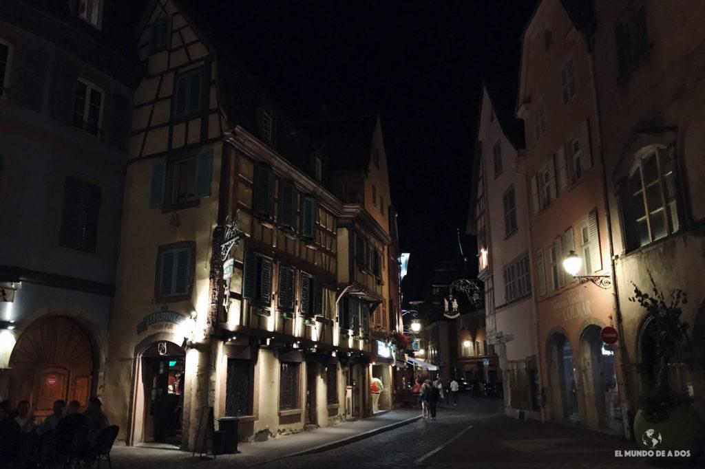 Colmar de noche. Que ver en Colmar Francia