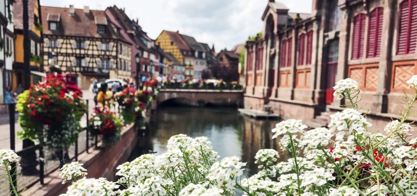 Flores en Petite Venise. Que ver en Colmar Francia