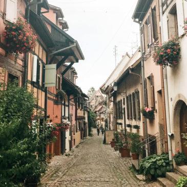 El pueblito de Eguisheim (Francia) y su círculo de oro.