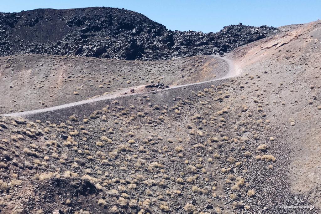 Caminando por el volcán de Santorini. Caldera de Santorini