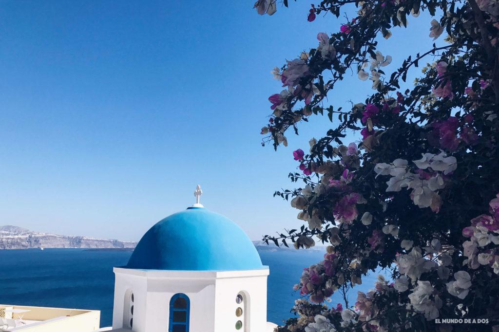 Cúpulas azules de Oia. Caldera de Santorini