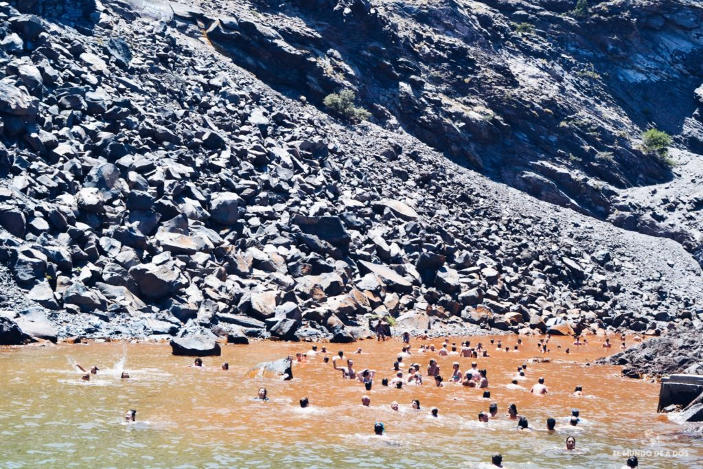 Aguas termales de Palea Kameni. Caldera de Santorini