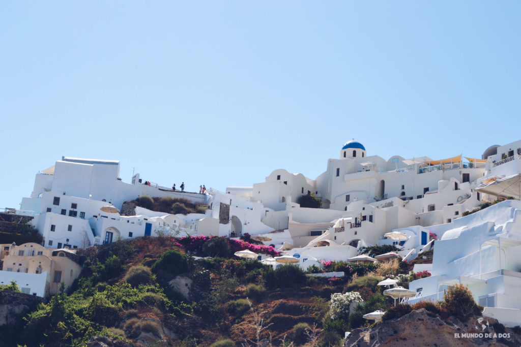 Subiendo a Oia. Caldera de Santorini