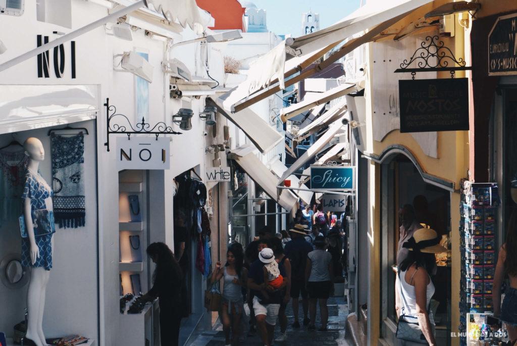 Las calles de Fira. Que ver en Santorini en 3 días