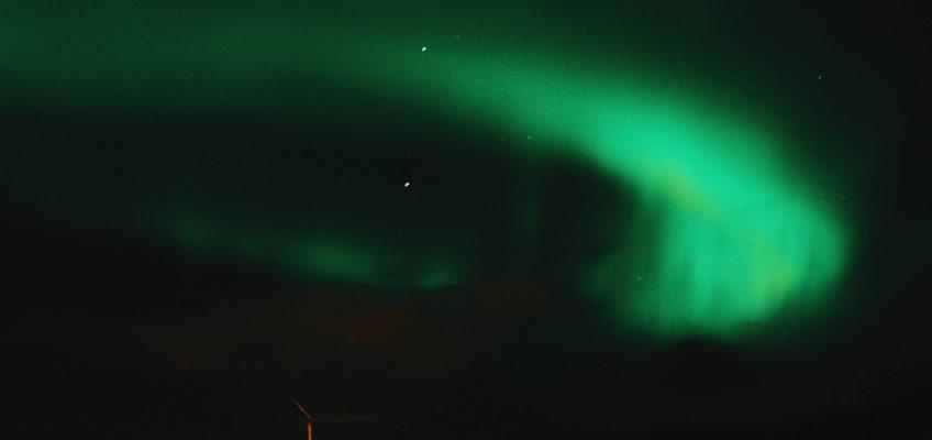 Aurora boreal. Islandia en Octubre.