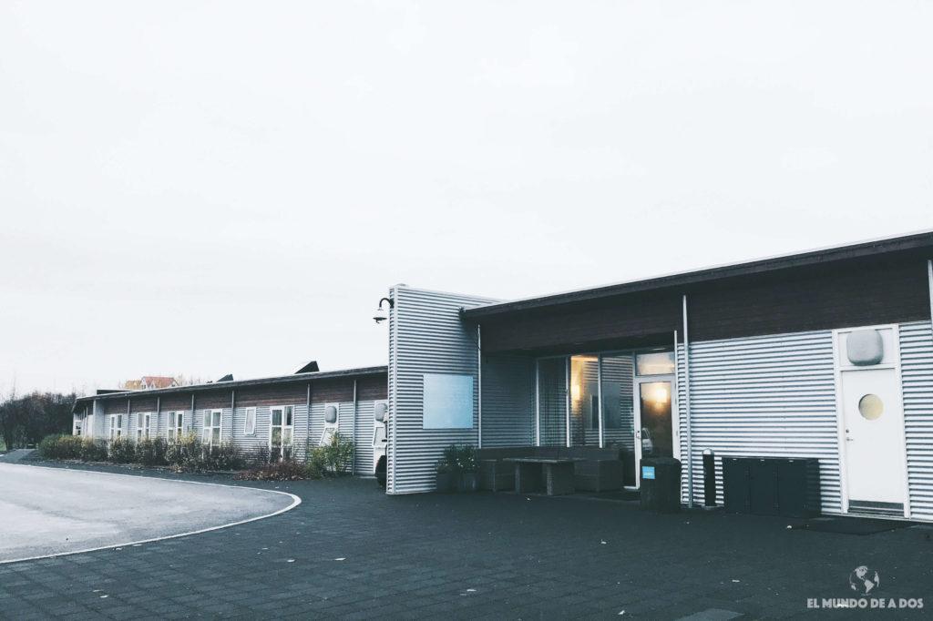 Icelandair Hotel Hamar desde afuera. Alojamiento en Islandia