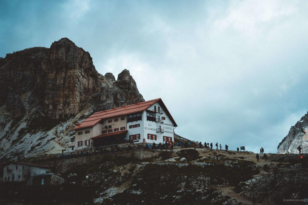 Refugio A. Locatelli. Las Tres Cimas de Lavaredo