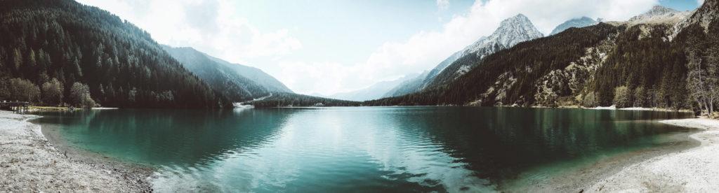 Lago di Anterselva. Viaje a los Dolomitas en verano