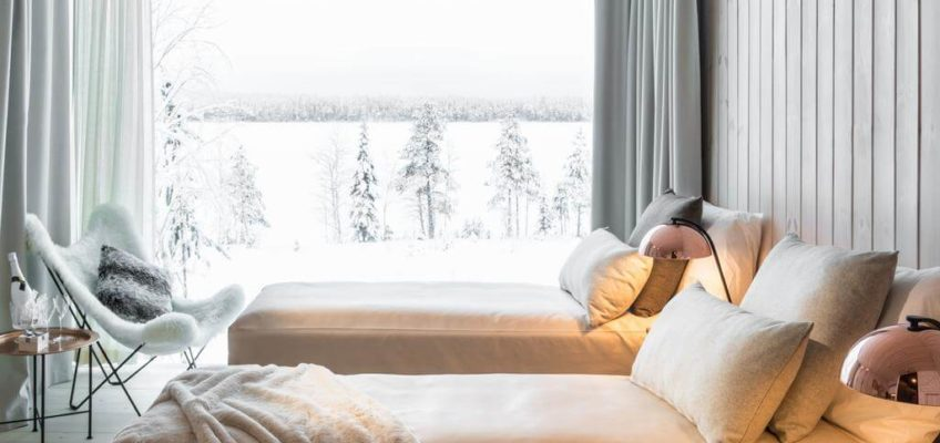 Arctic Tree House Rovaniemi interior. Foto obtenida de Booking.com