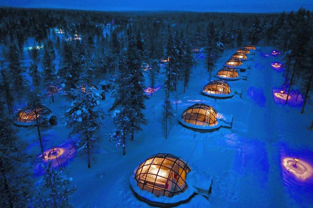 Kakslauttanen Artic Resort. Lugares curiosos para dormir en Laponia.