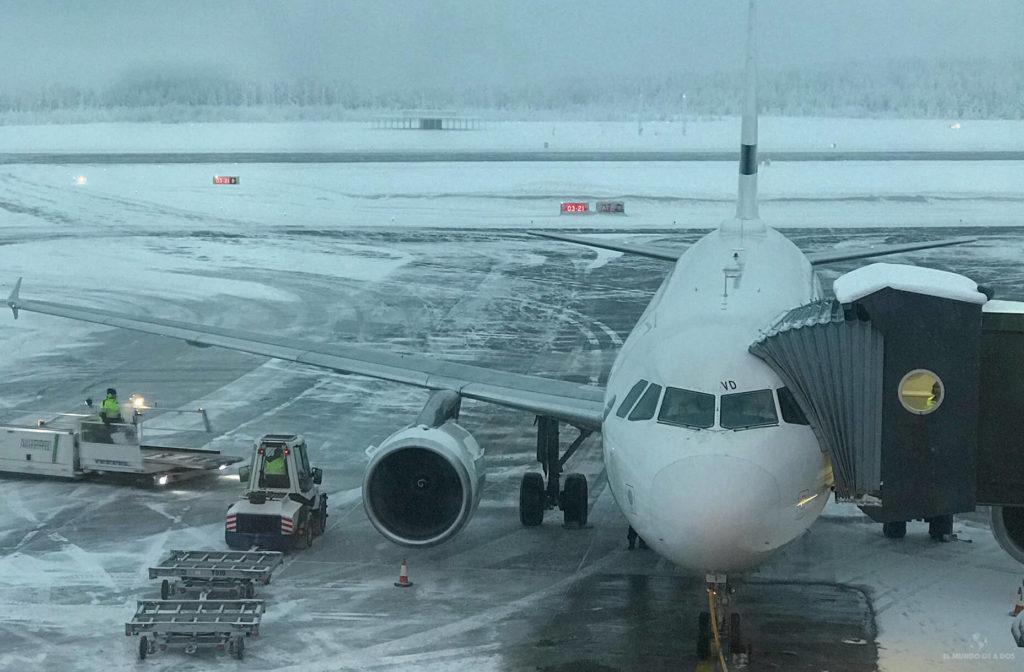 Aeropuerto Rovaniemi. Viajar a Laponia en invierno