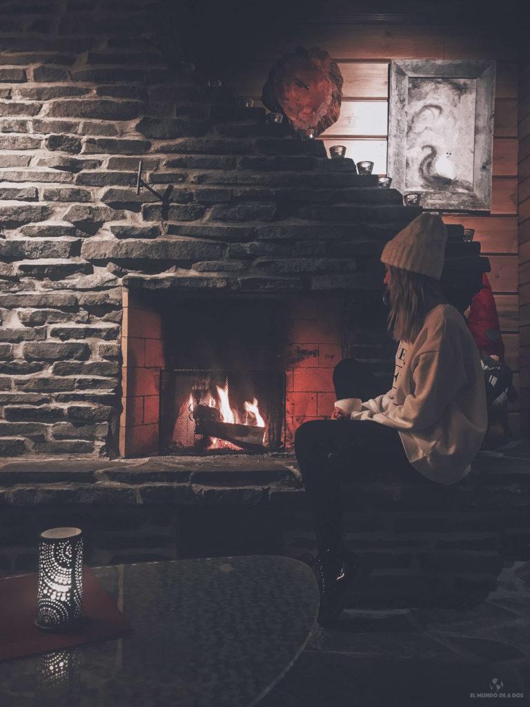 En el hogar. Viajar a Laponia en invierno