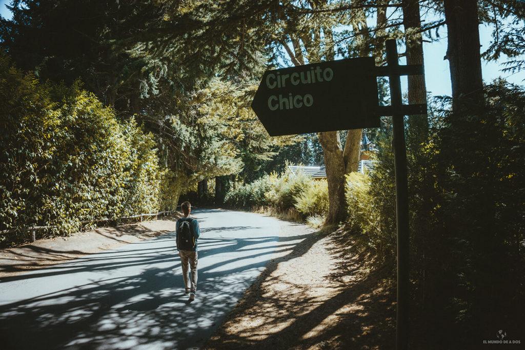 Camino al Circuito Chico en Bariloche en verano