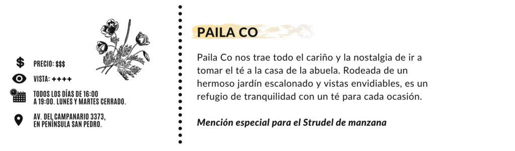 Paila Co - Cuadro resumen
