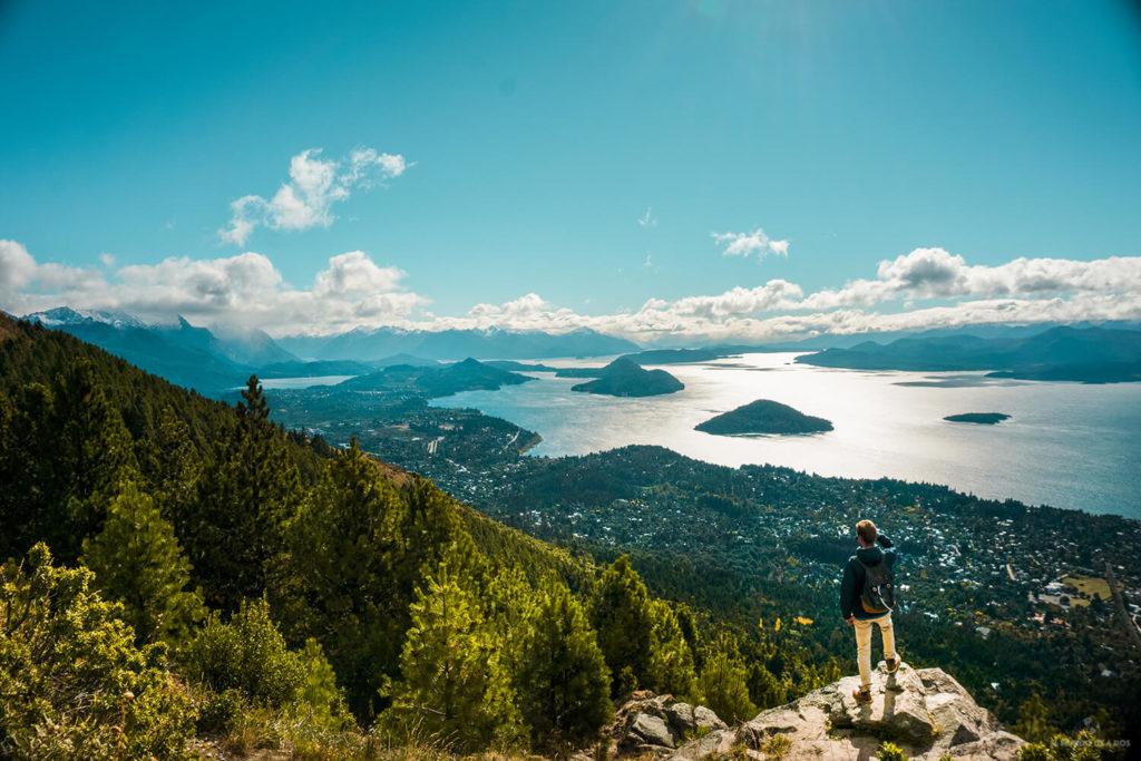 Vista desde el Cerro Otto en Bariloche en verano
