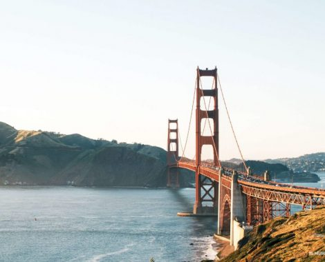 Golden Gate en la costa oeste de estados unidos